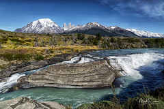 Cascade Paine (marko.erman) Tags: torresdelpaine patagonia magellanes chile andes painecascade paine waterfall river nature beautiful pristine towers torres mountains peaks glaciers landscape panorama outside pov travel popular biosphere unesco sony