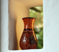 Ancient Indian Vase (matlacha) Tags: artifacts ancient hotel gardens nature vacation tropical bougainvilleahotel costarica
