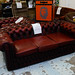3+1 wine leather button back chesterfield E425