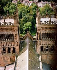 Durham From Above (Benjamin Driver) Tags: portra portra160 medium format mediumformat 120 film 160 pentax pentax67 6 7 6x7 durham durhamcathedral cathedral north england colour 105mm scan
