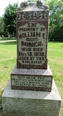 Miner, William E.   1831 - 1838 (Hear and Their) Tags: fraternal grave stones markers oddfellows masonic mason freemason kingsville ontario greenhill cemetery