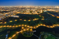 Olympiapark Lights (xxremixx) Tags: olympia park turm tower museum lighttrail city stadt munich münchen top rooftop bavaria bayern blue hour sunset sundown bmw world headquarter