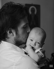 469201705aSERIATE-64 (GIALLO1963) Tags: kiss blackandwhite tenderness fatherandson look head portraits portrait kid father baby