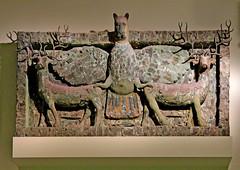 Imdugud: the lion-headed eagle and two deer. Tell al-'Ubaid c.2500 BC (Monopthalmos) Tags: imdugud lionheadedeagle tellalubaid godningirsu sumeria ur c2500bc thebritishmuseum londonuk