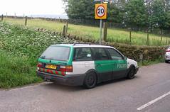 VW Passat B3 polizei (Lawrence Peregrine-Trousers) Tags: vw passat b3 estate variant break station wagon police german deutsche green white car ffffffffff autoshite
