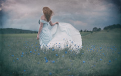 looking forward ... (Miss Froggi Photography) Tags: feelingsemotions beauty outdoor redhead redhair dress spring flowers
