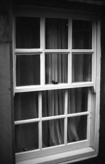 Sash Window Lancaster Ferrania P30 pyrocat_HD (Man with Red Eyes) Tags: meta35 curtain net window ferrania p30 p30alpha nikonf6 50mmf12 pyrocathd 11100 15mins semistand presoak analog blackwhite monochrome analogue silverhalide homedeveloped v850 lancaster lancashire northwest 35mm film filmtest filmisnotdead filmtilidie bnw