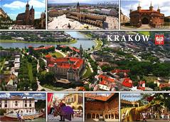 postcard - from Gosia, Poland (Jassy-50) Tags: postcard poland kraków krakow cracow multiview unescoworldheritagesite unescoworldheritage unesco worldheritagesite worldheritage whs postcrossing