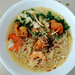 Yellow Noodles (with shrimp, shredded chicken, cha siu, and wonton) (JingKe888) Tags: