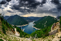 Dramatic in Every Way (TranceVelebit) Tags: crnagora montenegro plužine pluzine piva dinaricalps dinaridi balkan balkans valley deep canyon river water lake steep mountain mountains forest forested weather clouds cloudscape cumulonimbus storm stormchasing stormy summer