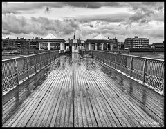 Rainy Day in St Annes.... (kevinwolves) Tags: stannesonsea pier sea seaside rain blackandwhite hdr view kevinwolves canon canonsx120is chdk