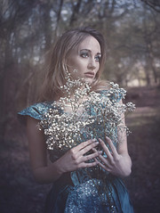 The Gift (elizabethstanbury15) Tags: bluedress fantasy blond gypsophila