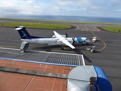 Bombardier Dash 8 at Horta 170616_030 (jimcnb) Tags: 2017 juni urlaub azoren azores açores faial horta airport castelobranco bombardier dash 8 cstrf sata