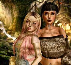 Marion and Zame (ZameNezrulain) Tags: zame marion second life secondlife cute friendship friends virtual girls avatars photo photoshop people nani sid bishbox truth lake catwa bento mesh insol zenith
