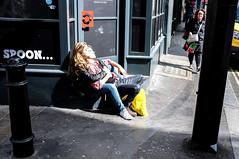Untitled (sandbag the great) Tags: london street photography flowers sunny day uk colour fuji x100
