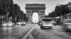 Champs-Élysées (Andrew G Robertson) Tags: champsélysées champs elysees traffic blur motion paris france high key longexposure arc de triomphe arch canon 5d mkiv mk4