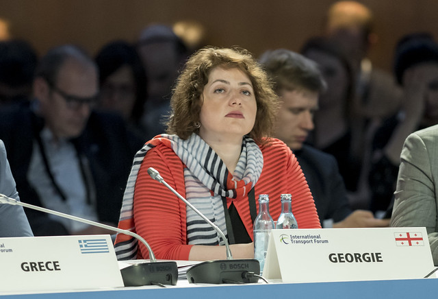 Ketevan Salukvadze taking part in the open ministerial