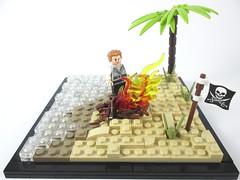 Sea Turtles (Jacob Nion) Tags: lego pirate moc vignette island turtle maroon shipwreck eurobricks