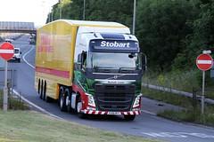 KX66 MYY EDDIE STOBART VOLVO (GAZ SELLERS) Tags: eddie ed eddiestobart fuel leicester services dhl trailer airport truck driver busy m1 motorway volvo