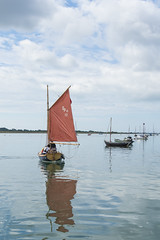 Mill-pond sailing (skipnclick) Tags: chichester harbout emsworth sailing boat rad sail windless ripples refelction