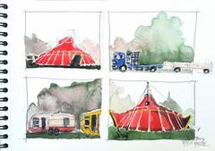 Brioux sur Boutonne,  Festival au Village (Croctoo) Tags: croctoo croctoofr croquis cirque festivalauvillage poitoucharentes poitou brioux aquarelle watercolor