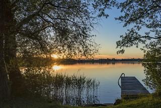 *Sonnenuntergang am Riegsee*
