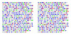 12 or 18 units letter grid? (Peter Van Lancker) Tags: red green blue text helvetica color frequency experimental
