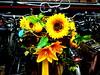 Eye Catcher (Quetzalcoatl002) Tags: bike flowers eyecatcher yellow kunstbloemen parking amsterdam cs