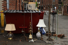 Lamp anyone? (Violentz) Tags: lamps dumpster boston fenway patricklentzphotography