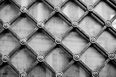 Geometry (phardon) Tags: shapes geometry geometric shadow light background design blackandwhite bw wall iron frame window windows glass square diagonal riga latvia city architecture architectural monochrome black white