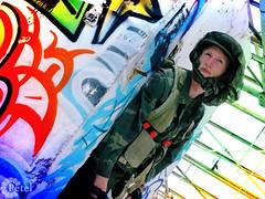 (Petel Photography) Tags: larp oldtown postapocalypse graffiti telaviv larpist soldier