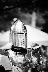Tin Man (Dan Haug) Tags: knight armor helmet osgoodemedievalfestival blackandwhite monochrome xt2 xf50140mm xf50140mmf28rlmoiswr fujfilm
