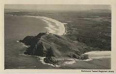 Aerila view, Cape Byron c1940 (RTRL) Tags: capebyron wategosbeach tallowbeach
