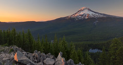 Nothing great in the world has ever been accomplished without passion… (ferpectshotz) Tags: tomdickandharrymountain oregon sunset mirrorlake hike trail mosquitoes goldenhour cascaderange