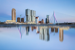 Rotterdam skyline (Steven Dijkshoorn) Tags: rotterdam skyline reflection out box manipulation photoshop art