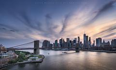 New York City.. (LoneWolfA7ii) Tags: manhattan new york city brooklyn usa river blue sunset sky water buildings architecture sonya7ii clouds