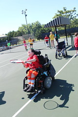IMG_8500 (varietystl) Tags: anklefootorthotics afos afobraces legbraces electricwheelchair wheelchair summercamp orthotics tennis