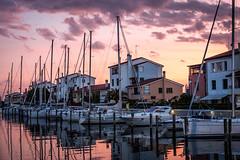 (Ivan Kuindzhi) Tags: italy caorle sunset marina yacht