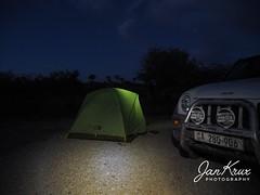 Last Night In Keetmannshoop (Jan-Krux Photography) Tags: keetmannshoop camp camping tent zelt uebernachtung reisen travel adventure namibia africa afrika omd em1 olympus nacht evening night dark light nature jeep cherokee sport liberty 4x4 car truck explore inexplore