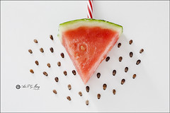 Proyecto 176/365 (Art.Mary) Tags: sandia watermelon fruta fruit pepitas pépites seeds canon bodegón stilllife naturemorte proyecto365 rojo rouge red
