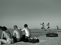 At the Beach (sabpost) Tags: teenager beach summer day art person river swim bathing boys guys jump jumping obges pier обьгэс пирс новосибирск fun