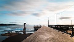 Day 9: Infinity / Sweden (Jannik K) Tags: long exposure langzeitbelichtung water lake see wasser sweden schweden rättvik lights clouds wolken licht sonne sun fluchtpunkt lines vanishing point samsung nx1 roadtrip ice eis