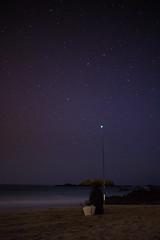 Fishing stars (Juan Pedro Barbadillo) Tags: nocturnalphotography fotografíanocturna stars estrellas beach playa fisherman pescador