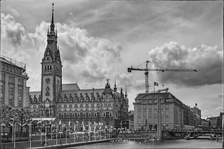 HDR Rathaus Hamburg BW