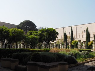 Santa Chiara, cloister of the Clarisses, with majolica tiles in Rococò style