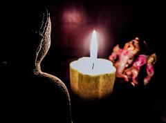 The Sacred Gathering. Meditation around the Candle. Buddha and Ganesha (Beato J | Royalty Free Music for Media) Tags: buddha buddhism idol statue ganesha ganesh ganapati india srilanka flame candle fire candlelight light meditation ritual religion hinduism hindu