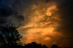 Post Storm Fireworks (NaturalLight) Tags: sunset cumulonimbus thunderstorm mammatus clouds chisholmcreekpark wichita kansas