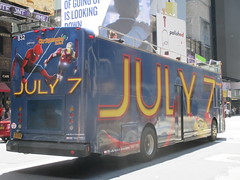 Spider-Man Homecoming Bus Ad 2017 NYC 8267 (Brechtbug) Tags: spiderman homecoming bus ad movie poster billboard 49th street 7th avenue 2017 nyc super hero marvel comic comics character spider man new york city film billboards standee theater theatre district midtown manhattan amazing home coming ads advertising yellow jacket cel phone cell mobile cellphone