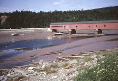 Tide out Alma Fundy National Park NB 1964 (D70) Tags: tide out alma fundy national park nb 1964 covered bridge scanned canon demi half format frame a unique redpainted