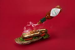 hot-dog... (Antonio Iacobelli (Jacobson-2012)) Tags: hotdog würstel bred tabasco hotsauce maionnaise nikon bari d800 nikkor 60mm maionese monochrome